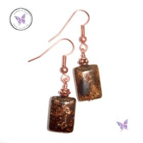Bronzite & Copper Earrings